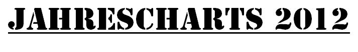 Heavypop Jahrescharts 2012